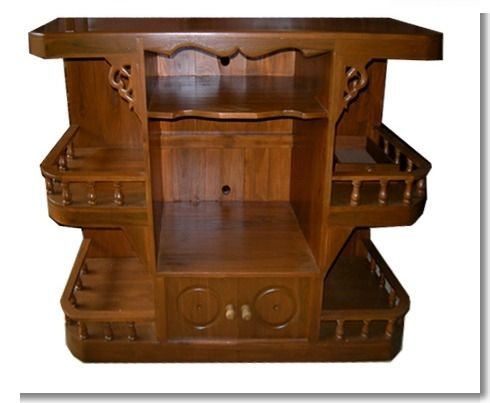 TV table from the original teak. Suitable for living room.