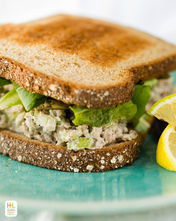 """Walnut Salad Sandwich with Crunchy Celery. """"Vegan Tuna"""""""