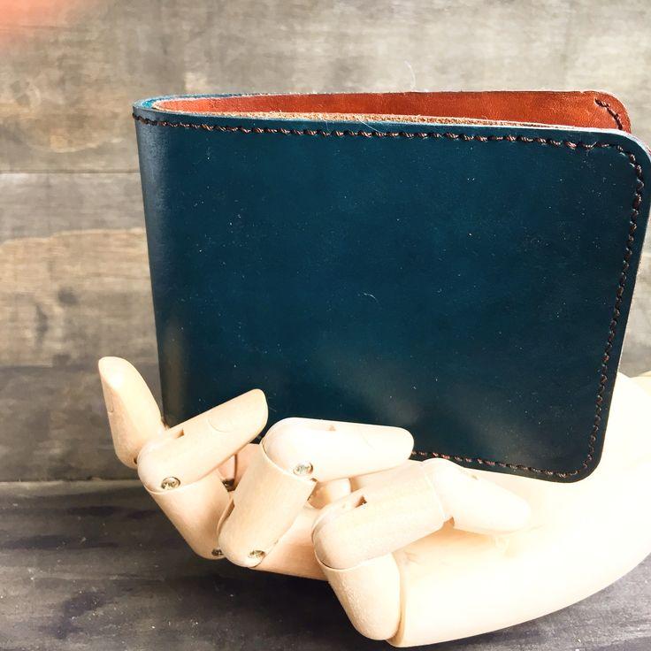#leatherhandmadewallet #darkgreen