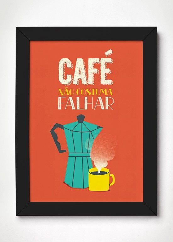 Poster Café - Meu Adorável Iglu