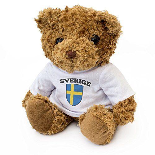 NY - SVERIGE FLAGGA - Teddybjörn - Gullig Mjuk Gosig - Gå...