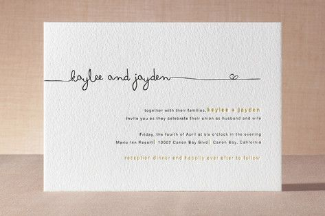The Happy Couple Letterpress Wedding Invitations (same layout as many of the knot or my wedding templates)