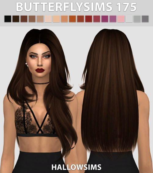 Sims 4 CC's - The Best: Hair ButterflySims 175 by Hallowsims