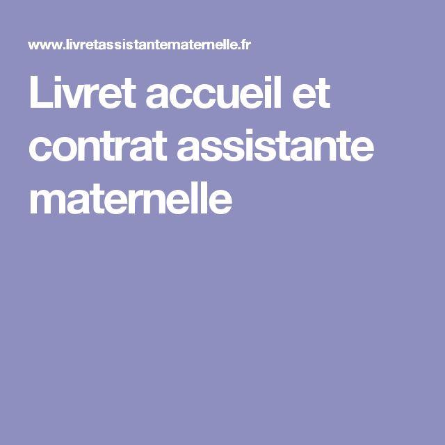 Livret accueil et contrat assistante maternelle
