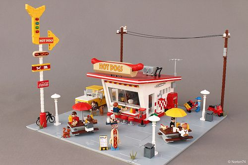 Outstanding Sweltering Frankfurters With This Classic Lego Diner