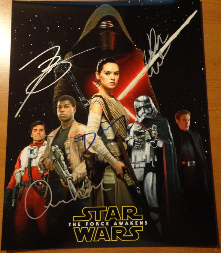 #starwars hand signed 8x10 photo daisy ridley john and adam driver #starwars from $39.0