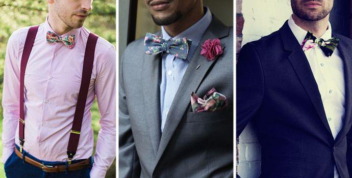 Men floral bowties. We love it. Briliant style.
