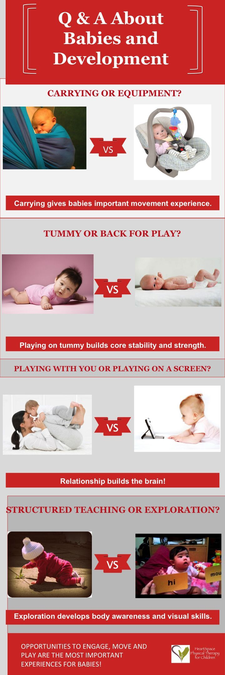 Importance of physical therapy - An Infographic Regarding Some Key Activities For Babies And Why They Are Important