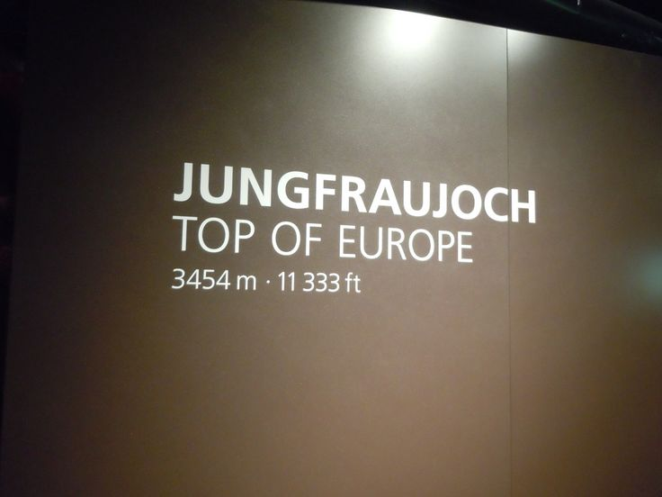 Jungfraujoch, top of Europe, Switzerland It was freezing! (Photo by Lexi McKenzie)