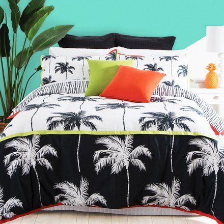 Bring on-trend tropicial into your bedroom with the Habitat Palm Beach Quilt Cover Set.