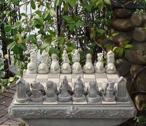 Gardeners Stone Chess Set... Stately!