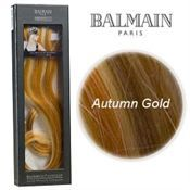 Balmain Clip on hair extensions Autum Gold 15 cm.
