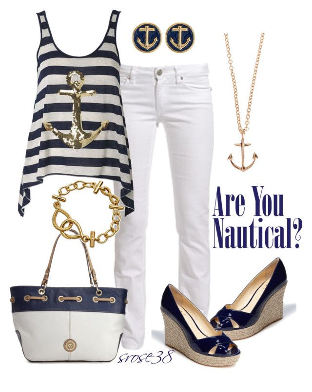 """Nautical"" by srose38 ❤ liked on Polyvore featuring Acne Studios, Vince Camuto, Minor Obsessions, Anne Klein, Shaun Leane, women's clothing, women, female, woman and misses"