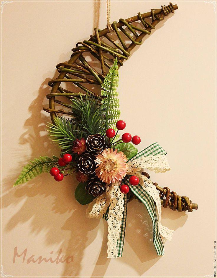 Купить Новогоднее интерьерное украшение Месяц - комбинированный, новогоднее настроение, новогоднее украшение, новогодний декор