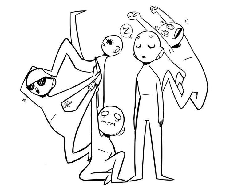 Открытки, смешные картинки манекены для рисования