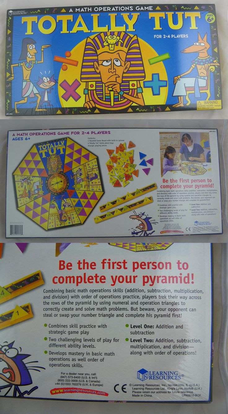 Mathematics 11734: Learning Resources Totally Tut Math Operations Board Game Nip -> BUY IT NOW ONLY: $34.99 on eBay!