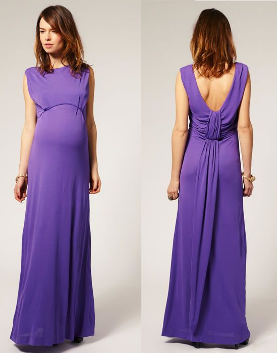 French Connection Maternity Scoop Back Jersey Maxi Dress