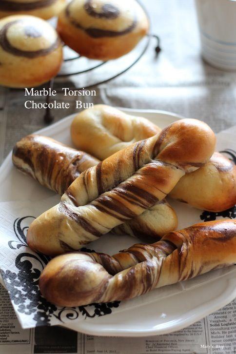渦巻きパンからのマーブルねじりチョコパン - 1ヶ月2万円の節約レシピ (マイティのブログ)