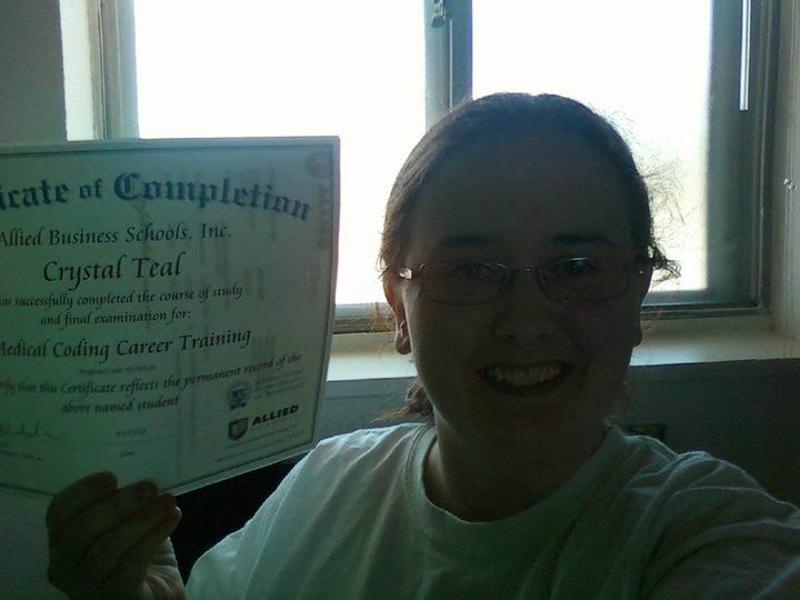 Crystal Teal earned a Certificate of Completion in Medical Coding #medicalcoding #onlinelearning #onlinecourses