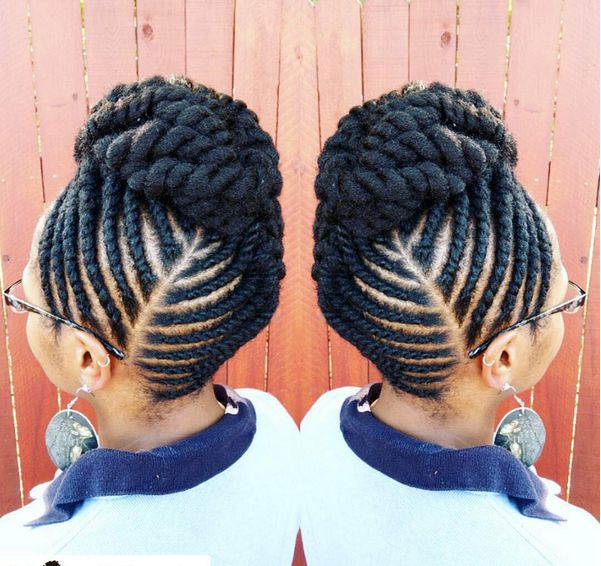 The Flat Twist Updo Style Official Natural Hairstyles Pinterest