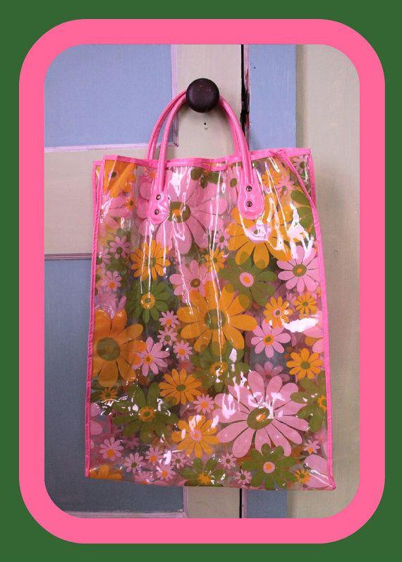 Plastic floral tote