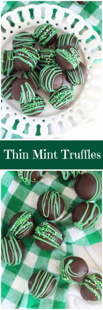 These Thin Mint Truffles aren't all that different from the recipe for Oreo Cookie Balls. You start with crushed cookie crumbs, add cream cheese, and roll into balls. Dunk in chocolate, and that's it. They're no-bake and simple to make. Basically, substitute crushed Thin Mints for Oreos, add a little mint extract, and you've got these instead.