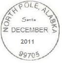 how to get Chrstimas cards postmarked from North pole, along with Santa's