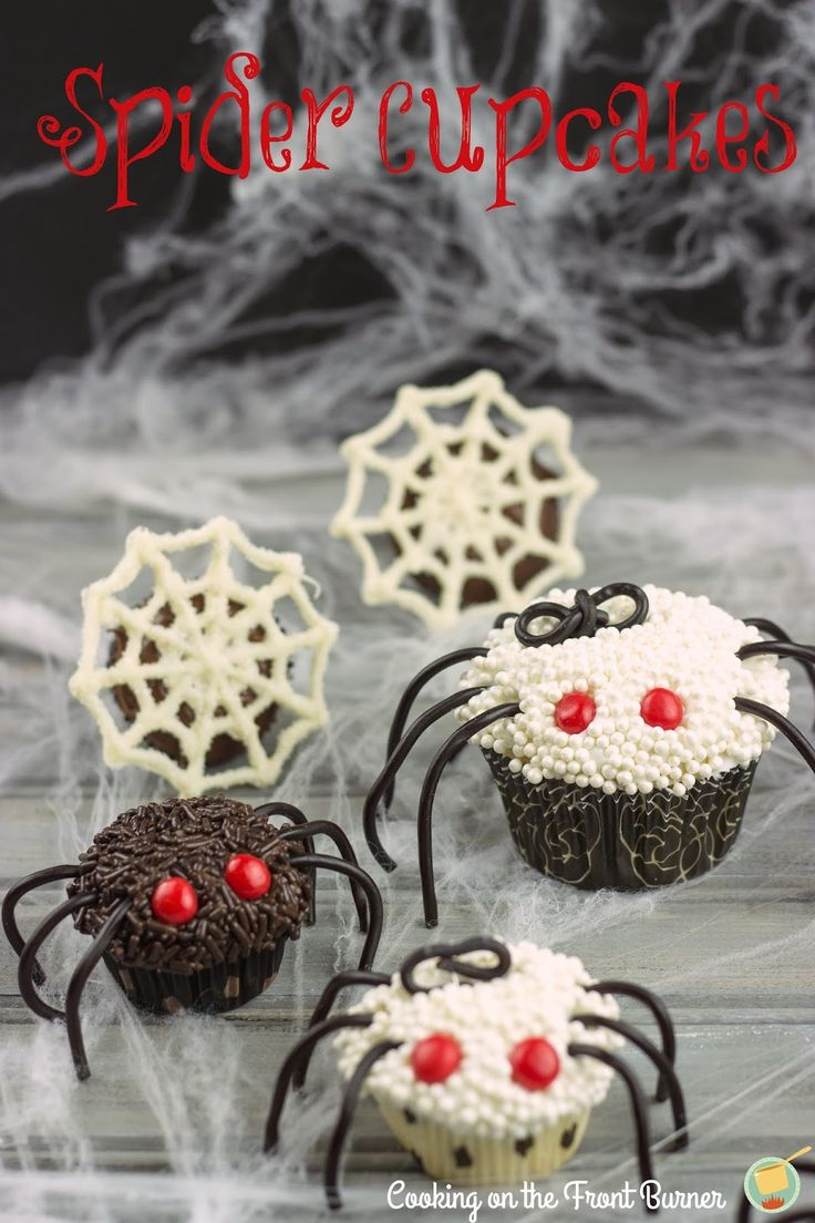 These easy to make Spider Cupcakes are a great way to get your kids in the Halloween spirit & cute enough to get anyone over their fear of spiders.