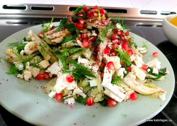 Ottolenghi's Salad With Fennel, Pomegranate and Sumac - Kalofagas - Greek Food & Beyond