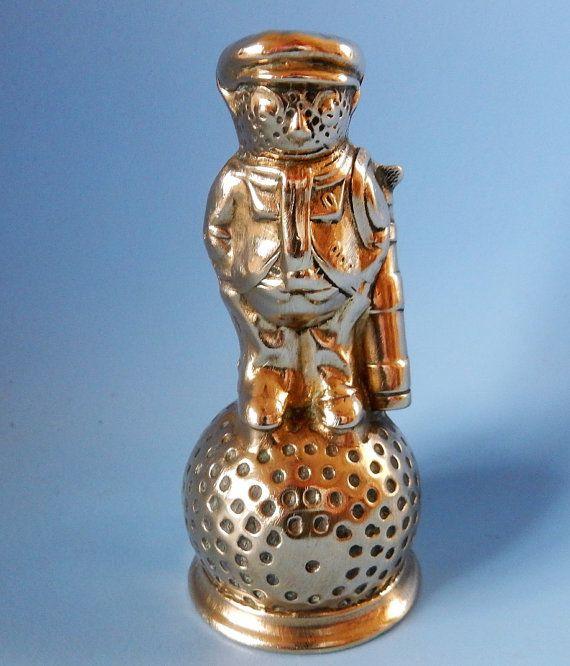Vintage Brass Tubal Cain  Golfer On Golf by MindieshackVintage