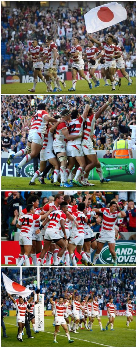 Japan beat Soutb Africa 34-32 at rugby world cup 2015
