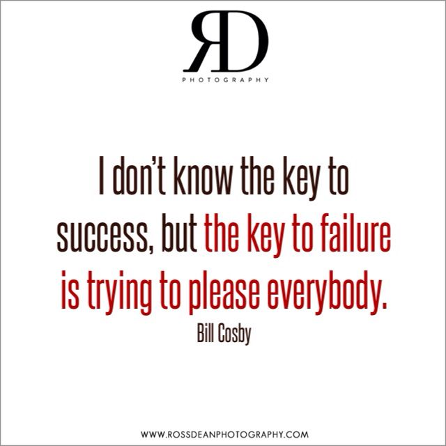 The key to success? #rdpquotes   Http://www.rossdeanphotography.com