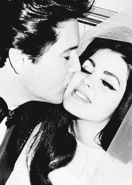 Elvis Presley and Priscilla at the Aladdin Hotel in Las Vegas, NV, May 1, 1967.