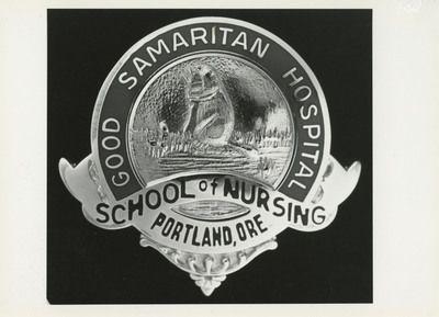"Good Samaritan School of Nursing Pin    Unknown, ""Good Samaritan School of Nursing Pin"" (2012). Good Samaritan School of Nursing Photographs. Image. Submission 267.  http://digitalcommons.linfield.edu/nursing_photos/267"