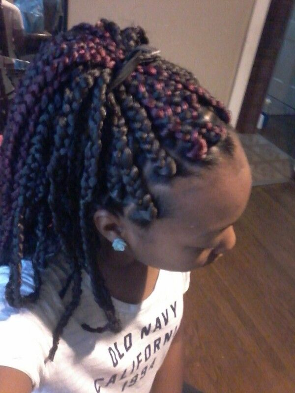 box braids with rubber bands braids Pinterest Braids, Rubber ...