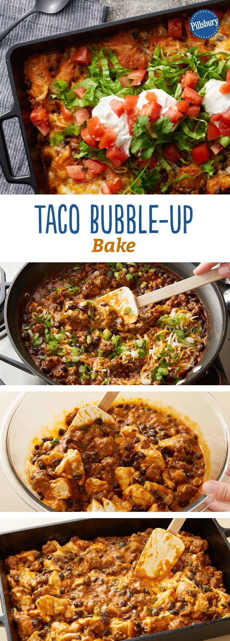 Try this easy-prep Mexican casserole with bubble-up biscuits. Add your favorite fresh toppings and dinner's done!