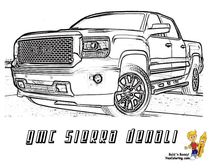 gmc sierra denali truck coloring sheet you can print out this truck coloringpage
