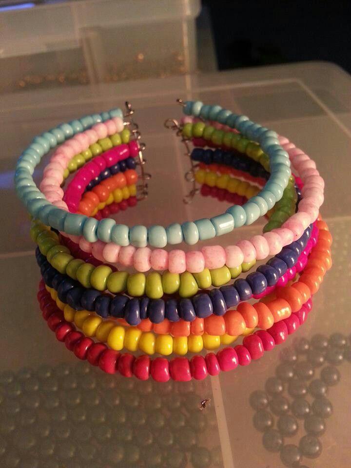 Funky pebble bracelet cuff