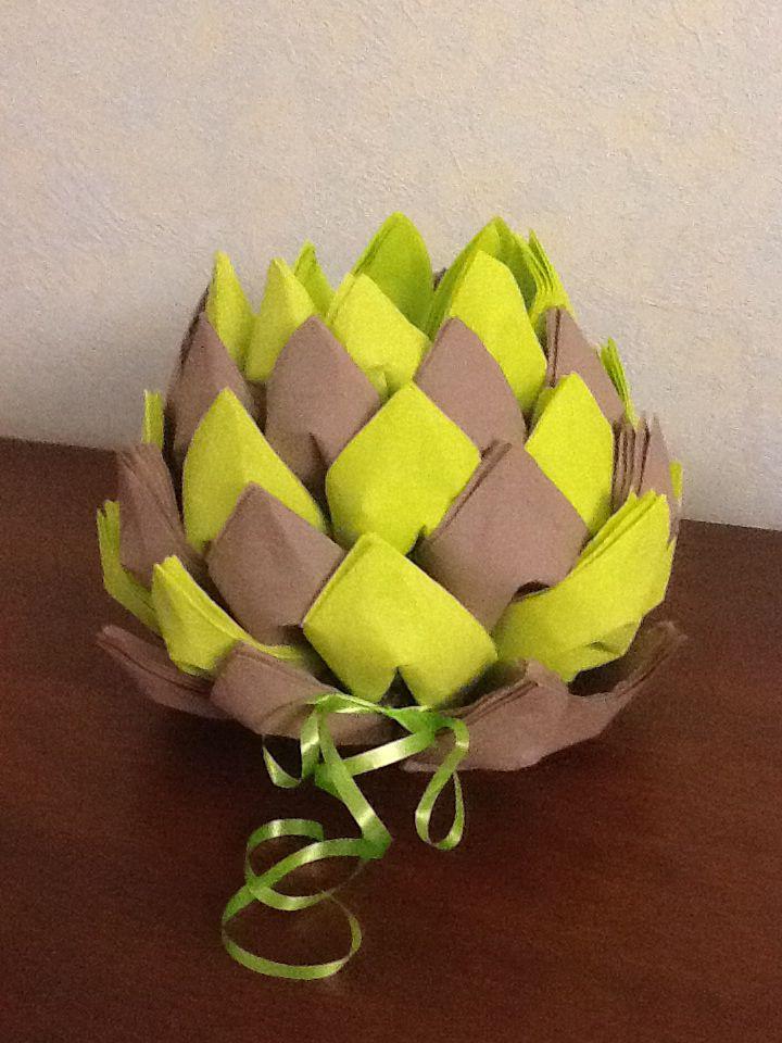 Ananas serviteur de serviettes passe temps pinterest - Pliage serviette chemise ...