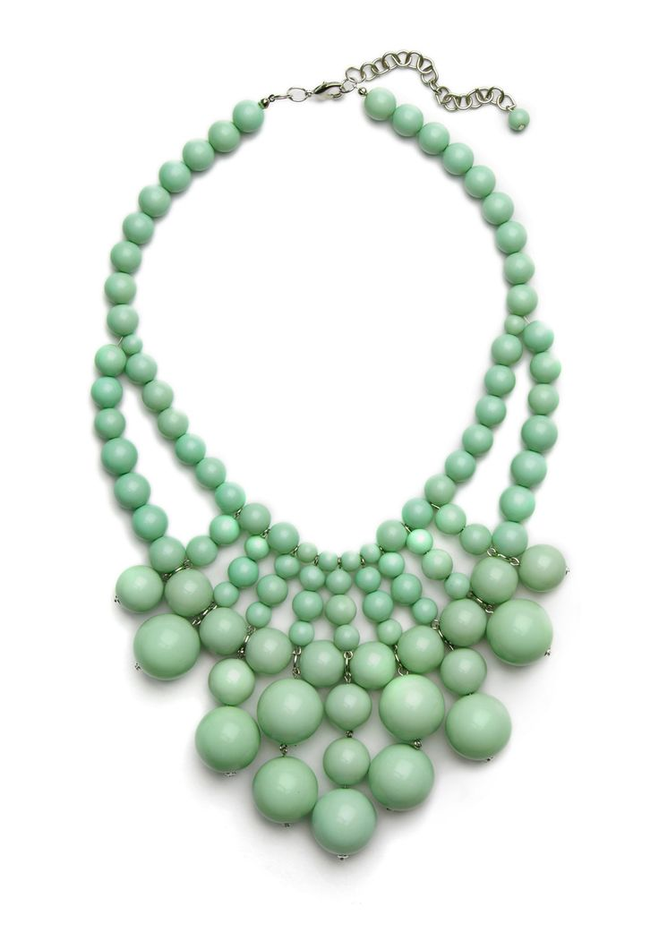 .: Mint Green, Style, Statement Necklace, Color, Jewelry, Jade Necklace, Necklaces
