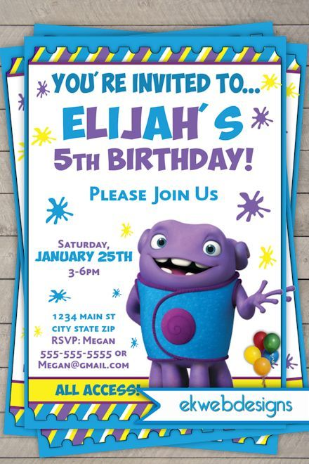 314 best party ideas images on pinterest birthday invitations kid dreamworks home birthday movie themed invitations stopboris Gallery