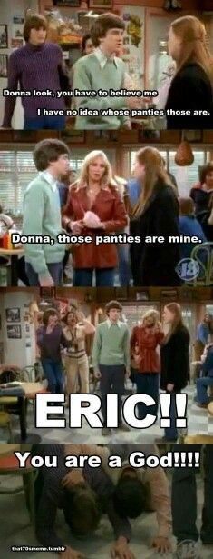 This is BY FAR my favorite moment in the ENTIRE SERIES of That 70's show.