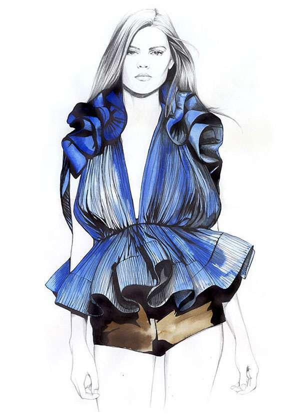 Penciled Fashion Illustrations