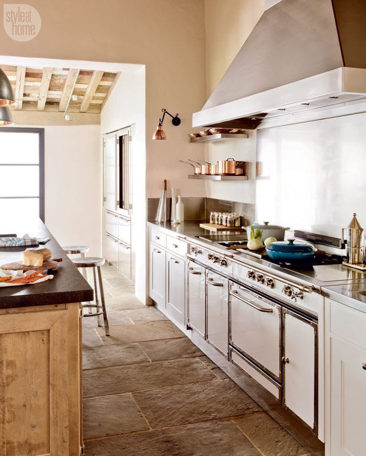 Debbie Travis's semi-industrial kitchen {PHOTO: George Ross}