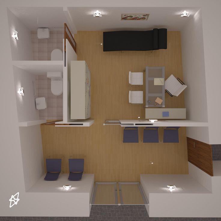 render interno Studio logopedia  3D studio max - vray - photoshop
