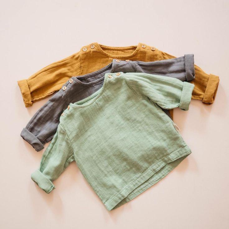 Baby Leinenblusen Babykleidung Baby-Stil
