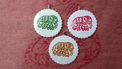 EACH Pendants, ceramic,porcelain, necklace, handmade, jewellery, unique, floral/circular/animal, motif by BlindDogPottery on Etsy
