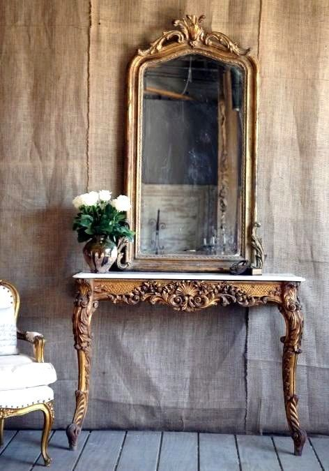 Gold monochrome - j'adore mock baroque anything juxtaposed with rusticity. Hessian and haughty glitz. Love!