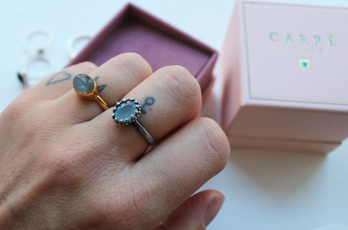 Danish blogger, Emili, with our beautiful Moonstruck-ring