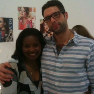 Our favorite Chef Anthony Sedlak with Jacquie Hutchinson Revlon Trainer
